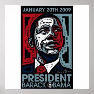 Presidente Barack Obama el 20 de enero de 2009 Poster