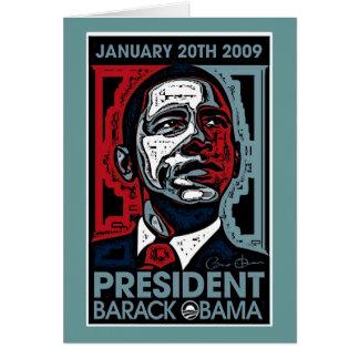 Presidente Barack Obama el 20 de enero de 2009 Tarjeta De Felicitación