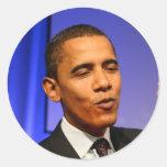 Presidente Barack Obama Etiqueta Redonda