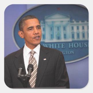 Presidente Barack Obama hace una invitación Pegatina Cuadrada