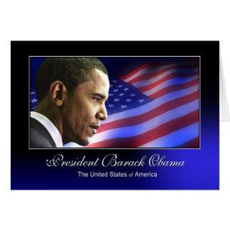 Presidente Barack Obama (patriótico) Tarjeta De Felicitación