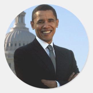 Presidente Barack Obama Pegatinas Redondas