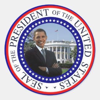 Presidente Barack Obama - pegatinas Etiqueta Redonda
