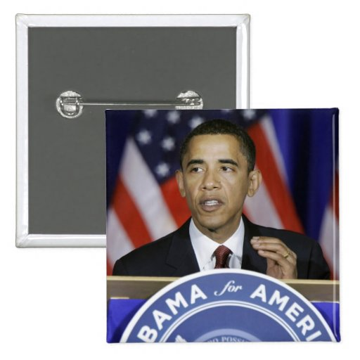 Presidente Barack Obama Pin Cuadrada 5 Cm