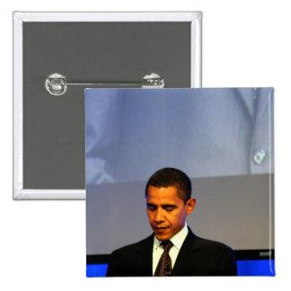 Presidente Barack Obama Pin Cuadrado