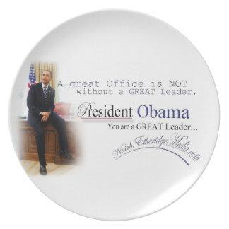 Presidente Barack Obama - placa Platos
