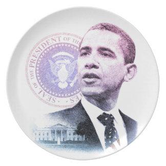 Presidente Barack Obama Platos Para Fiestas
