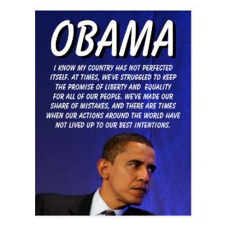 Presidente Barack Obama Postal