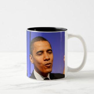 Presidente Barack Obama Taza De Café De Dos Colores