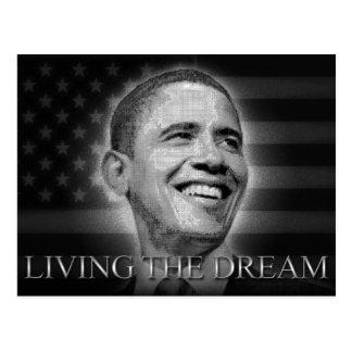 Presidente Barack Obama - viviendo el sueño Postal