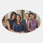 Presidente Barack Obama y familia Colcomanias De Óval