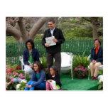 Presidente Barack Obama y familia Postal