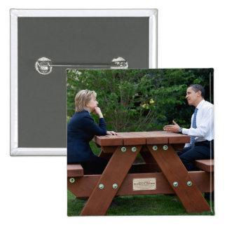 Presidente Barack Obama y Hillary Clinton Pin