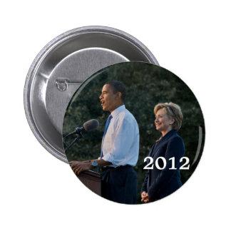 Presidente Barack Obama y Hillary Clinton Pins