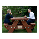 Presidente Barack Obama y Hillary Clinton Postal