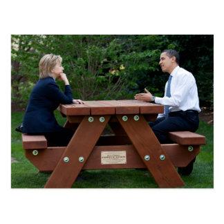 Presidente Barack Obama y Hillary Clinton Postales