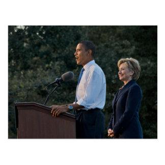 Presidente Barack Obama y Hillary Clinton Tarjetas Postales