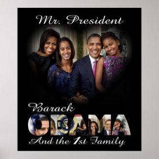 Presidente Barack Obama y la 1ra familia Impresiones