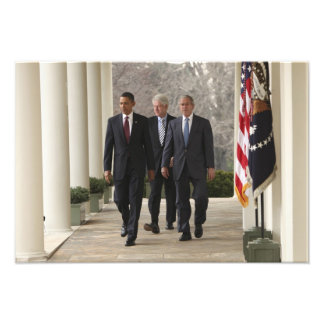 Presidente Barack Obama y presidentes anteriores Fotografía