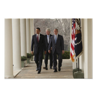 Presidente Barack Obama y presidentes anteriores Posters