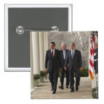 Presidente Barack Obama y presidentes anteriores Pin Cuadrada 5 Cm