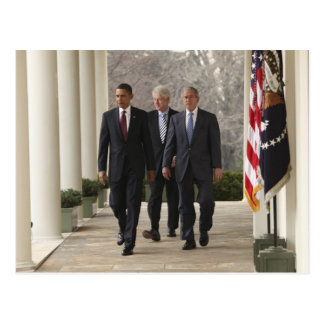 Presidente Barack Obama y presidentes anteriores Postal