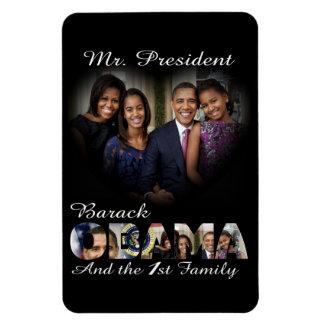 Presidente Barack Obama y primera familia grandes Iman De Vinilo