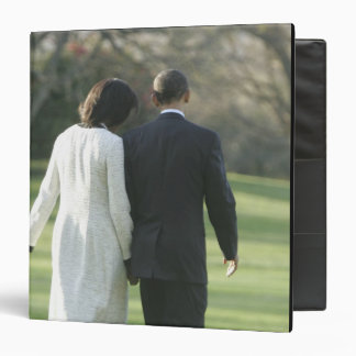 "Presidente Barack Obama y primera señora Michelle Carpeta 1 1/2"""