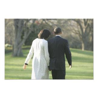 Presidente Barack Obama y primera señora Michelle Fotografía