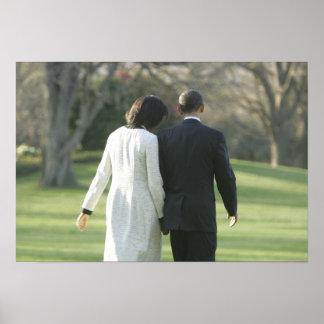 Presidente Barack Obama y primera señora Michelle Impresiones