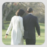 Presidente Barack Obama y primera señora Michelle Colcomania Cuadrada