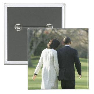 Presidente Barack Obama y primera señora Michelle Pin Cuadrado
