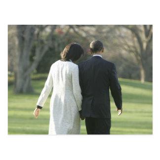 Presidente Barack Obama y primera señora Michelle Tarjeta Postal