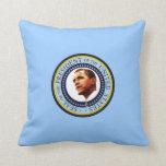 Presidente Barack Obama y retrato de MrsObama Almohada