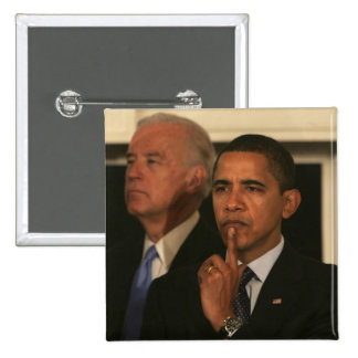 Presidente Barack Obama y vicepresidente Pin Cuadrado