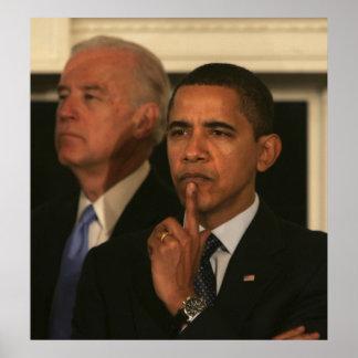 Presidente Barack Obama y vicepresidente Póster