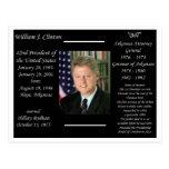 Presidente Bill Clinton Tarjeta Postal