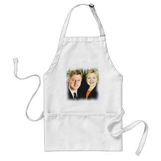 Presidente Bill Clinton y presidente Hillary Delantal
