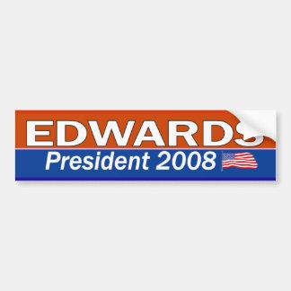 Presidente Bumpersticker de EDWARDS Pegatina Para Auto