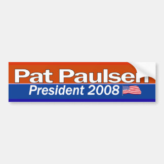 Presidente Bumpersticker de Pat Paulsen Etiqueta De Parachoque