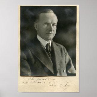 Presidente Calvin Coolidge de los E E U U Posters
