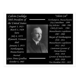 Presidente Calvin Coolidge Postales