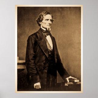 Presidente confederado Jefferson Davis Póster