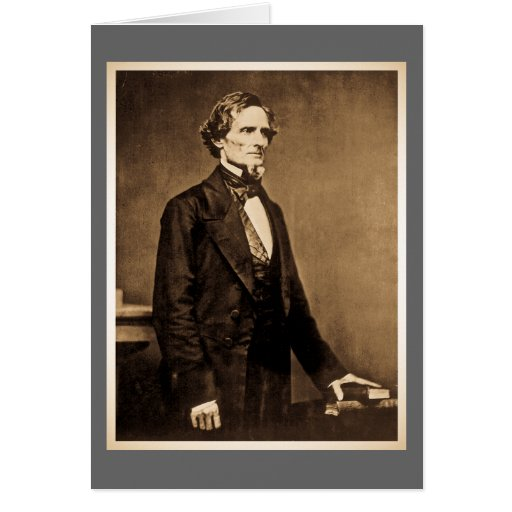 Presidente confederado Jefferson Davis Felicitacion