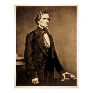Presidente confederado Jefferson Davis Tarjeta Postal