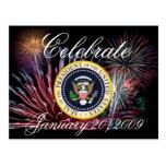 Presidente conmemorativo Obama Inauguration Postal