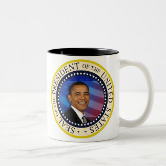 Presidente conmemorativo Obama Inauguration Taza De Dos Tonos