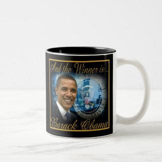 Presidente conmemorativo Obama Re-election Tazas