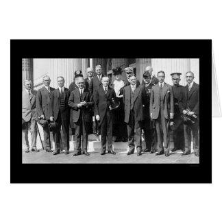 Presidente Coolidge y Herbert Hoover 1923 Tarjetas