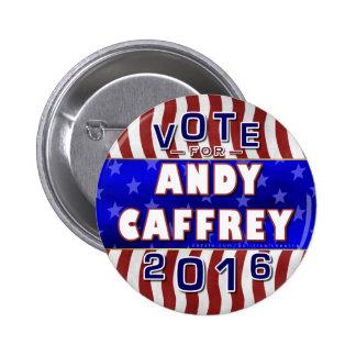 Presidente de Andy Caffrey elección 2016 Demócrata Pin Redondo 5 Cm